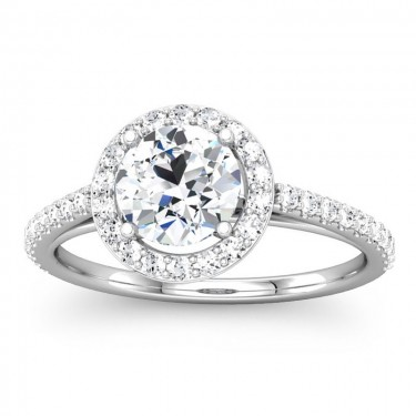 Round Diamond Halo Ring Setting