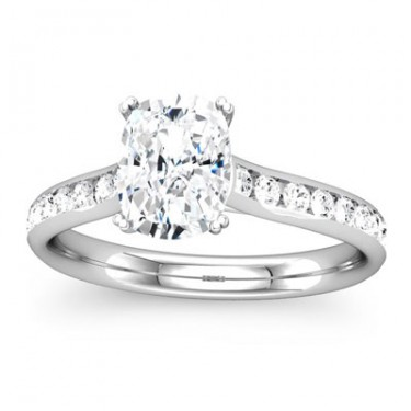 Cushion Cut Diamond Engagement Setting