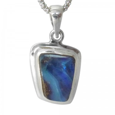 A Smaller Dark Blue Boulder Opal
