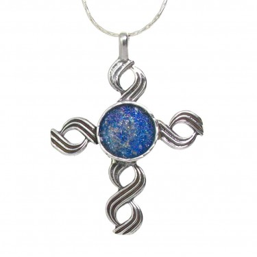 A Custom Designed Roman Glass Cross