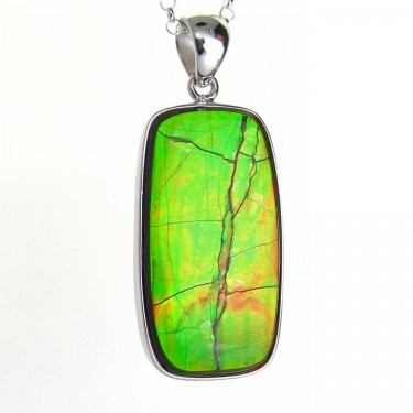 Iridescent Green Canadian Ammolite