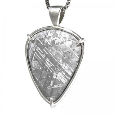 Shield Shaped Meteorite Pendant