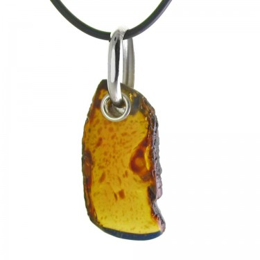 Natural Amber Pendant for a Man
