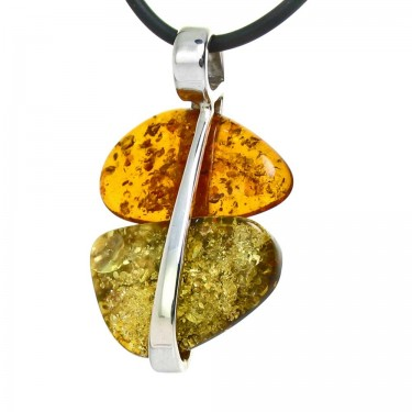 Bi-Color Amber Pendant