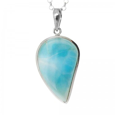 Teardrop Larimar in Sterling Silver