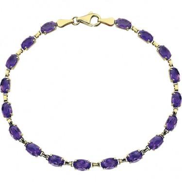 Amethyst in 14kt Gold Bracelet