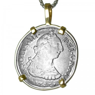 A Spanish Shipwreck Silver Coin Pendant