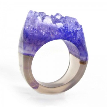Banded Brazilian Agate Ring Size 8