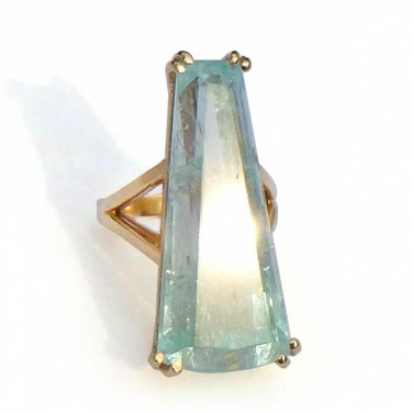 44 Carat Aquamarine Ring in 14kt Gold