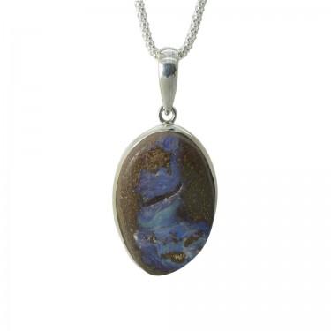 Australian Boulder Opal Pendant - 26ct