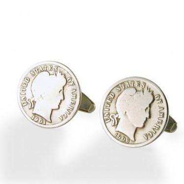 Vintage Dime Sterling Silver Cufflinks