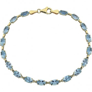Blue Topaz Bracelet in 14kt Gold