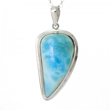 Freeform Larimar in Sterling Silver