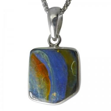Australian Boulder Opal Pendant - 14ct