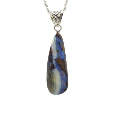 Australian Boulder Opal Pendant - 22ct