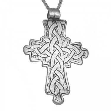 Infinite Knot Pattern Coptic Christian Cross