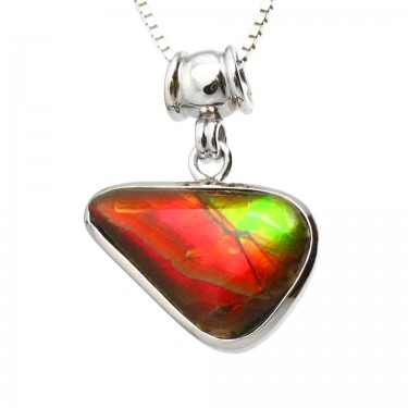 Red and Green Canadian Ammolite