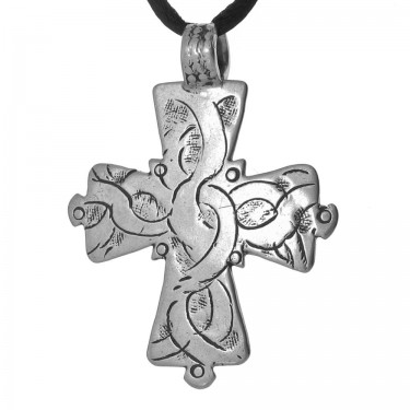 Hand Engraved Coptic Christian Antique Cross