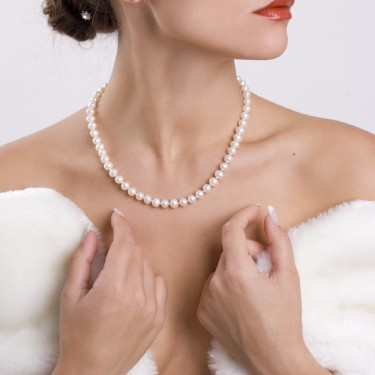 Cultured Pearl Necklace in a 7mm Diameter