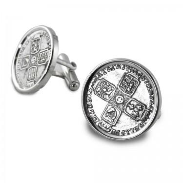 1757 Sixpence Cufflinks