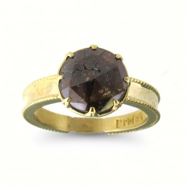 Natural Chocolate Diamond in 14kt Gold
