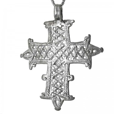 A Larger Ethiopian Patterned Christian Cross