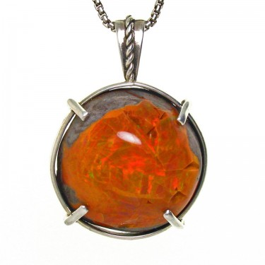 Ethiopian Opal with Fiery Orange Hues
