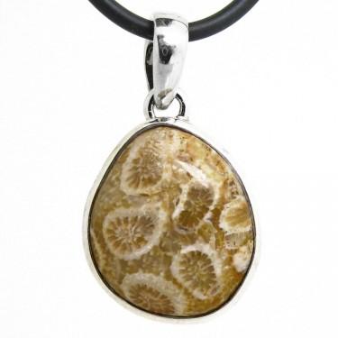 A Unique Fossil Coral Pendant