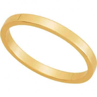 14kt Gold Flat Wedding Band 3mm Width