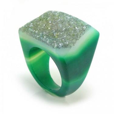 Brazilian Agate Ring Size 7.5
