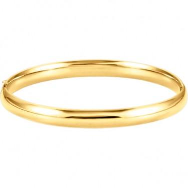 14kt Bangle Bracelet in Yellow, White, or Rose Gold
