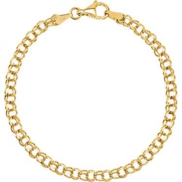 Solid Gold Charm Bracelet