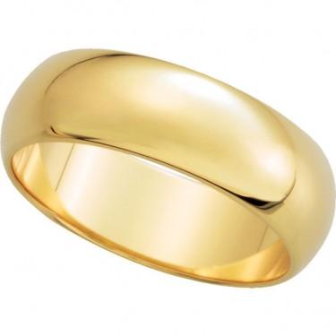 14kt Gold Wedding Bands 6mm Width