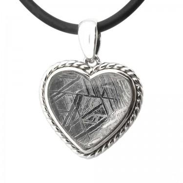 A Heart Shaped Meteorite Pendant