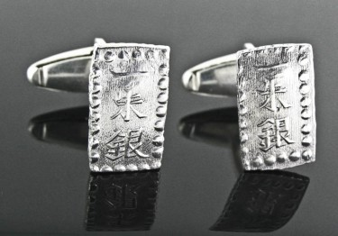 Japanese Samurai Coins in Cufflinks