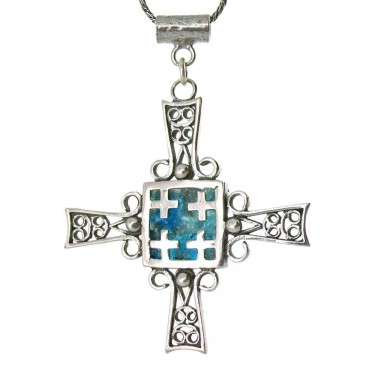 The Jerusalem Cross in Roman Glass