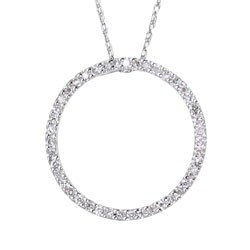 Circle Diamond Pendant, .25 Ct