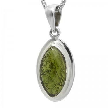 A Larger Marquise Cut  Moldavite
