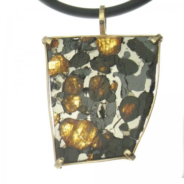 One of Our Largest Pallasites with Olivine Crystals