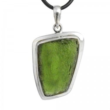 Moldavite Natural Crystal Pendant