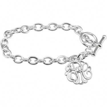 Three Initial Monogram Bracelet