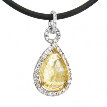 Natural Yellow Diamond Pendant