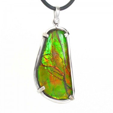 Orange and Green Canadian Ammolite