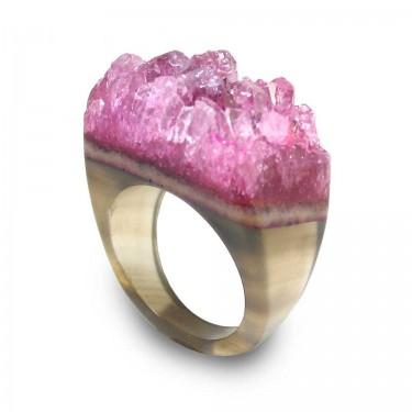 Brazilian Gem Agate Ring Size 8