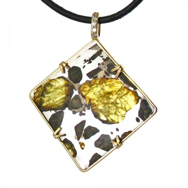 A Pallasite with Diamond Bail