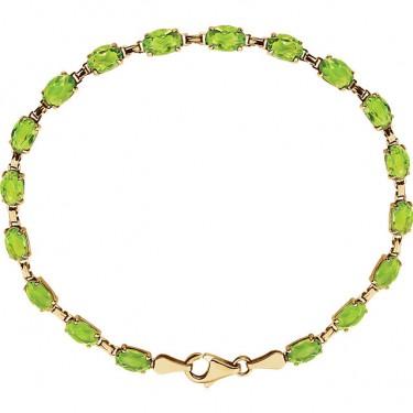 Peridot Bracelet in 14kt Gold