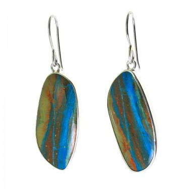 Peruvian Blue-Green Opal Earrings