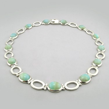 Custom Designed Peruvian Opal Collar