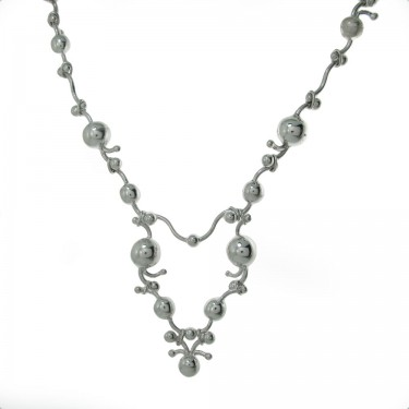 Peruvian Silver Necklace and Earring Set