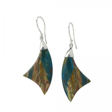 Peruvian Opal Dangle Earrings